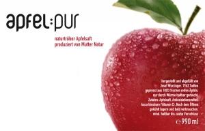 Apfelpur Etikett